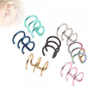 Piercings - Faux Clips - Oreille - Lot de 7