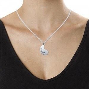 Necklace Custom Yin Yang 2 Names + Gift Box 2