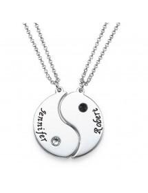 Necklace Custom Yin Yang 2 Names + Gift Box