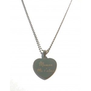 Necklace Heart Silver Mom We love You Gift Box Ideal Holiday Mother
