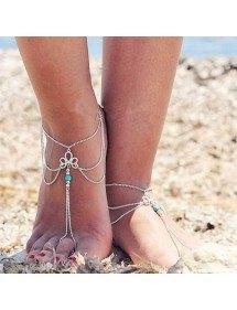 Chain Ankle Chain Bohemia V2 - Silver