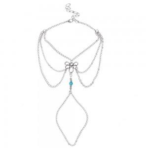 Kæden Ankel Kæde Bohemia V2 - Sølv