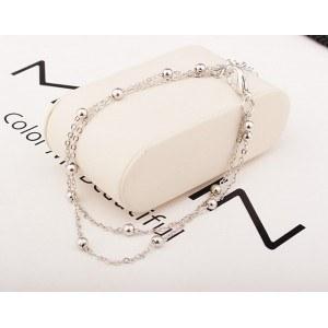Kæden af Ankel - Bare Dobbelt-Kæde - Sølv