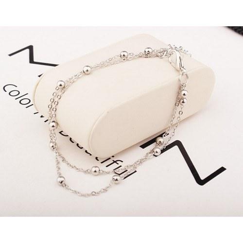 Kedja av Vrist - helt Enkelt Dubbel-Chain - Silver