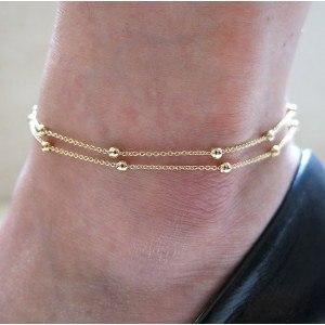 Obwód Kostki - Simply Double Chaine - Złoty-2