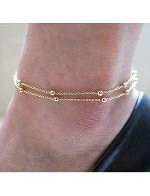 Kruga Gležanj - Simply Double Chaine - Zlatno-2