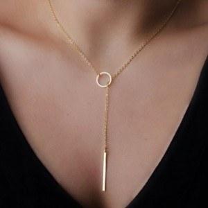 Halskette - Simply - Y - Gold