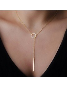 Ogrlica - Preprosto - So - Zlati