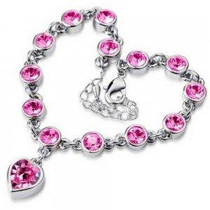 Armband - Herz Der Ozean Titanic V2 - Silber - Rosa