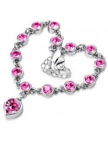 Bracelet - Heart Of The Ocean - Titanic V2 - Silver - Pink