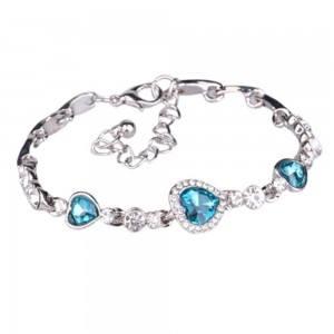 Bracelet - Heart Of The Ocean - Titanic - Turquoise - Silver
