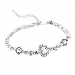 Armband - Heart Of The Ocean - Titanic - Vit - Silver