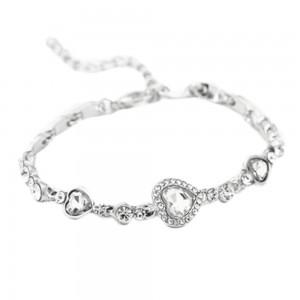 Bracelet - Coeur De L'Océan - Titanic - Blanc - Argenté