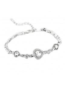 Zapestnica - Srce Oceana - Titanik - White - Silver