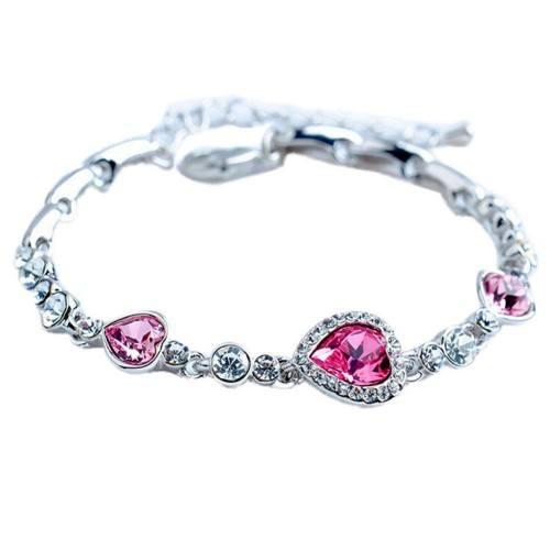 Narukvica - Srce Oceana - Titanic - Pink - Silver