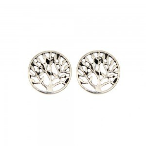 Earrings - Tree Of Life V2 - Thin and Elegant - Silver