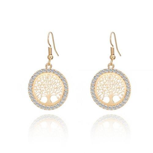 Earrings - Tree Of Life - Premium - Golden
