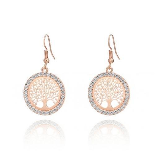 Earrings - Tree Of Life - Premium - Gold - Rose Gold