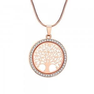 Halskette - Baum des Lebens - Premium V3 - Gold (Rose Gold)