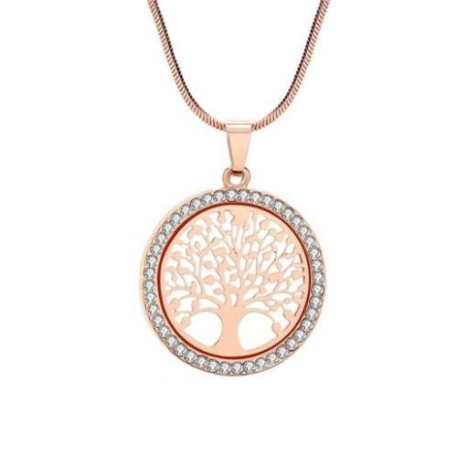 Колие - Дървото На Живота Premium V3 - Злато Покритие (Розово Злато)