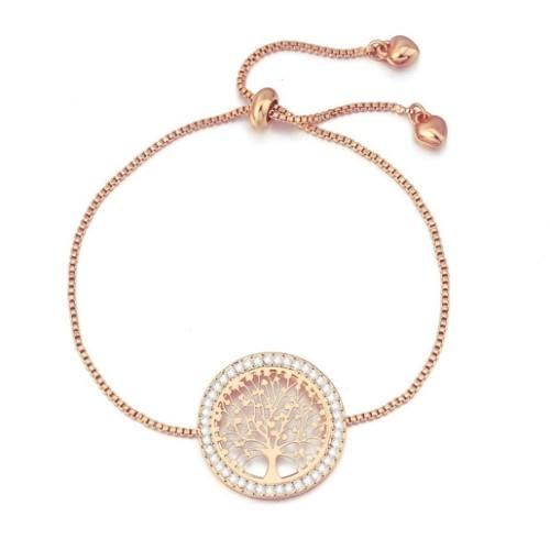 Bracelet - Tree Of Life - Premium V3 - Gold (Rose Gold)