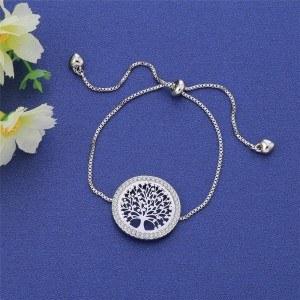 Armband, Baum Des Lebens - Premium V3 - Silber