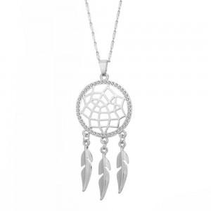 Halskette - Fängt Traum Premium V2 - Silber