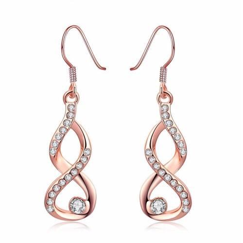 Orecchini - Infinity - Premium Gold (Oro Rosa)