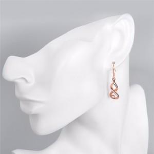 Обеци - Безкрайност - Premium - Злато Покритие (Розово Злато)