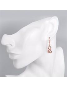 Oorbellen - Infinity - Premium Goud (Roze Goud)