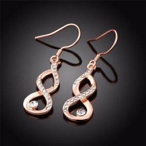 Earrings - Infinity - Premium Gold (Pink Gold)