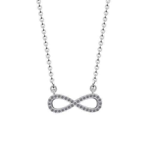 Necklace - Infinity, Premium V2 - Silver