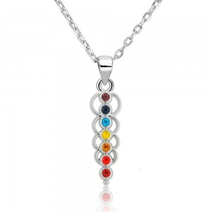 Necklace - Healing 7 Chakra - Circles of Life - Multicolored