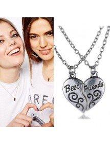 Halskette - Best Friends - Beste Freunde - Simply - Silber