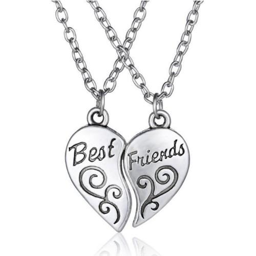 Necklace - Best Friends - Best-Friends - Simply - Silver