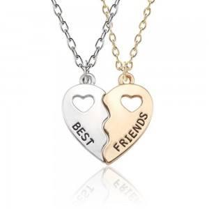 Collar - Mejores Amigos - Mejores-Amigos - Diseño De - Plata - Oro -