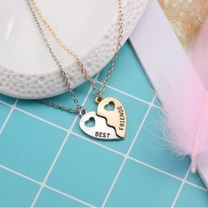 Collier - Best Friends - Meilleures Amies - Design - Argenté - Doré