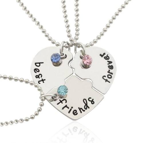 Necklace - Best Friends - Best Friends - Lot of 3 - Silver