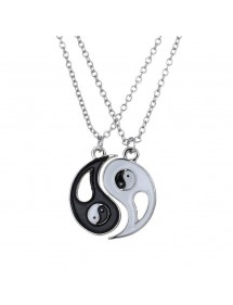 Collier Couple - Ying Yang - Argenté