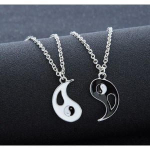 Collare Di Coppia - Ying Yang - Argento