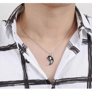 Collar, Par - Ying Yang - Plata