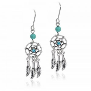 Earrings - Catch Dream - Mini - Silver/Blue