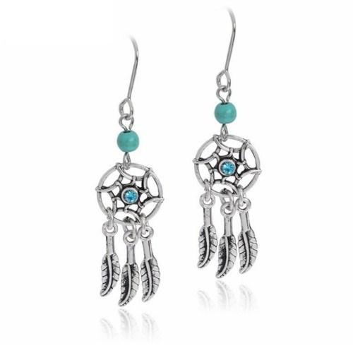 Earrings - Catch Dream - Mini - Silver/Blue