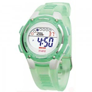 Watch Child Boy - Digital - Waterproof - Green