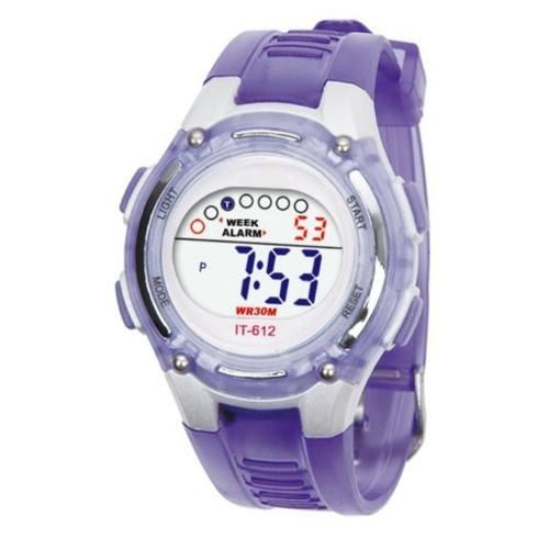 Reloj Niño, Muchacho - Digital - Resistente Al Agua - Púrpura
