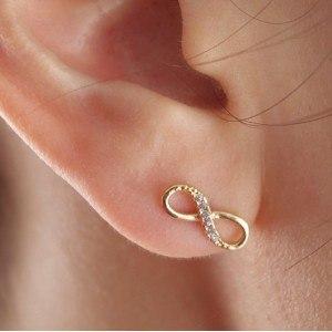 Earrings - Infinity - Golden