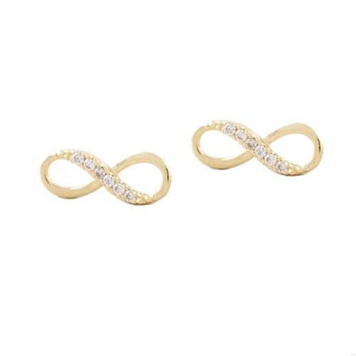 Earrings - Infinity, Simply - Golden
