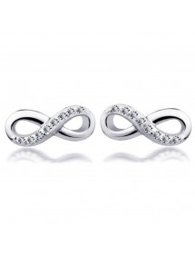 Earrings - Infinity, Simply - Silver