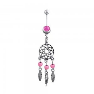 Piercing Belly Button - Mini Grabs Dream Surgical Steel Silver Pink
