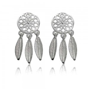 Earrings - Catch Dream Simply - Silver